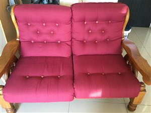 Collectors item, Oak 2 x 2 seater lounge suite, in good condition @ R2500 each.  Call 0826632575