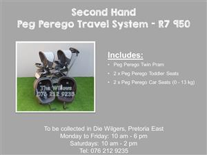 Second Hand Peg Perego Travel System
