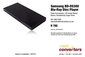 Samsung BD-D5300 Blu-Ray Disc Player