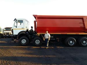 Powerstar twin steer tipper truck