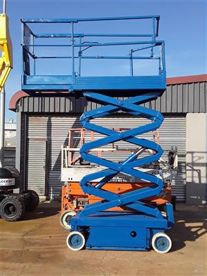 Cherry Pickers Total Access hire -Skyjack SJ3219 7.8M electric scissor lift
