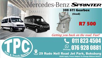 Mercedes Sprinter 308 611 Gearbox - Used - Quality Replacement Taxi Spare Parts.