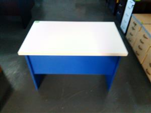 Blue and white impact desk
