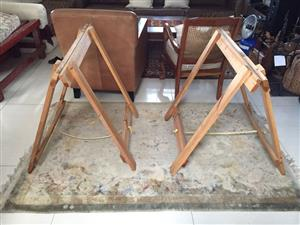 Large Solidwood wooden Trestles (Bokkies) - 2 pairs available - price per pair