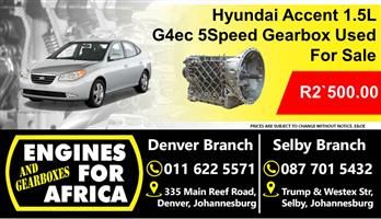 Hyundai Accent 1.5L Manual 5Speed G4ec Gearbox Used For Sale