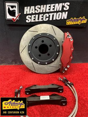 Performance vented Complete brake caliper kit for vw golf 5 sold as a pair R9995  In stock at our Centution store. if required to collect at any of our other stores
