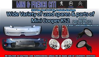 Mini Cooper R52 used Body parts on Big sale !! Now !!