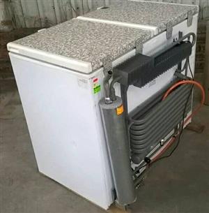Gas fridge and freezer