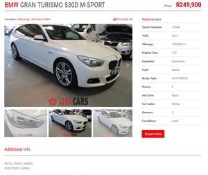 2012 BMW 5 Series Gran Turismo 520d GT M Sport