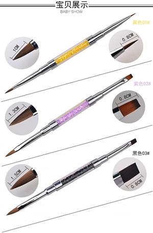 Dual make up paint brushes