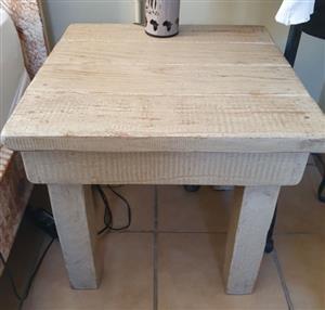 Limewash Side Coffee Table