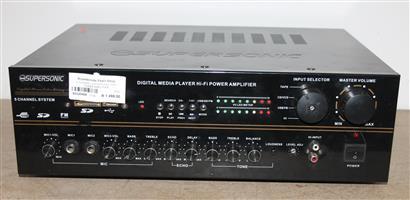 5 channel supersonic hifi power amp S032042A #Rosettenvillepawnshop