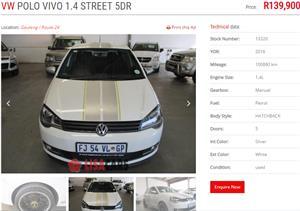 2016 VW Polo Vivo hatch 1.4 Street