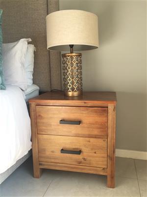 2 Drawer Pedestal/Bedside Table