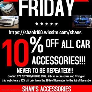 Black Friday Specials Car accessories