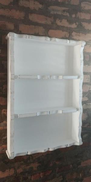 Rustic white shelf