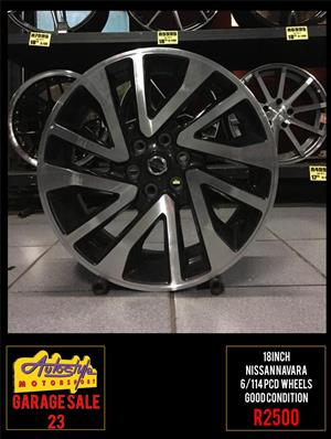 Garage Sale 23 R2500 18 inch Nissan Navara Wheels Rims mags alloys  6-114 pcd