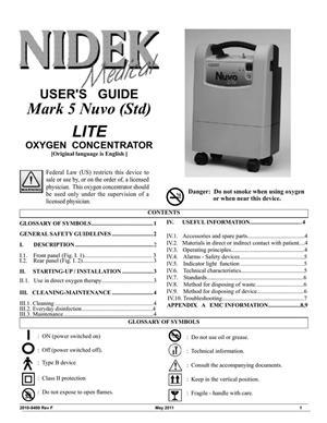 Oxygen machine – Nidek Nuvo Lite for sale  Krugersdorp