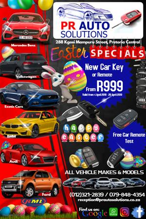 Get a NEW Car Key or Remote this Easter (Limited Time Offer