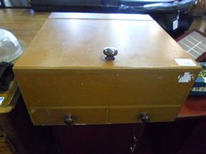 Large Wooden Tackle Box