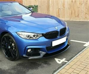 BMW 4 Series (F32/F33) Front Lip Spoiler & Splitter Set – Gloss Black