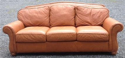 Stylish Ethan Allen Genuine Leather Sofa