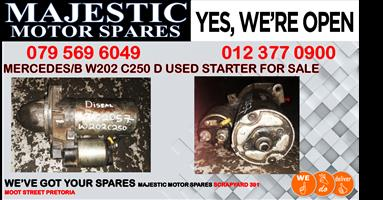 Mercedes benz w202 c250 d used starter for sale