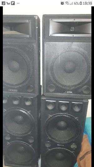 DJ SPEAKER SET AND AMPLIFIER