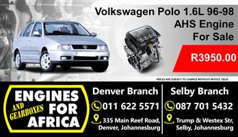 Used Vw Polo 1.6L 96-98 AHS Engine For Sale