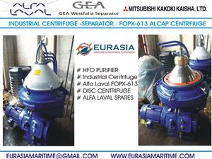 Alfa Laval marine oil purifier, ship oil purifier, Industrial centrifuge  and spares