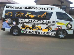 Denotech Training Institute TELL: 0127703686 Forklift, Excavator, TLB, Front End Loader, LHD SCOOP, Grader, Roller, Drill Ridge, Dump Truck, Boiler Maker,