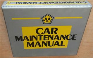 AA RSA Car Maintenance Manual. A practical introduction to understanding and maintaining your car.