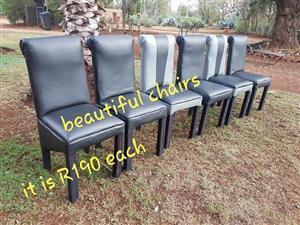 Dark grey dining chairs