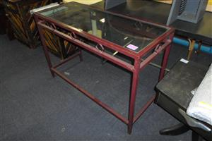 Metal Framed Glass Top Table - B033043166-4