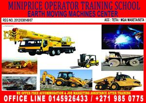 Miniprice Operator center Boilermaker Front end loader classes LHD scoop Drill rig training DRO 777