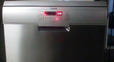 AEG stainless steel 13 place setting dishwasher