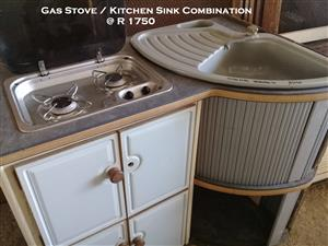 Gas Stove / Kitchen Sink Combination