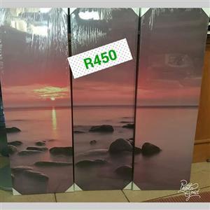 Ocean sunset canvasses