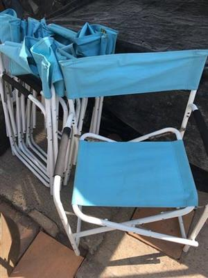 Blue garden chairs for sale