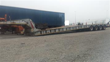 Used 2015 Busaf 4 Axle Clipneck Lowbed Trailer for sale