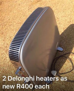 2 Delonghi heaters for sale