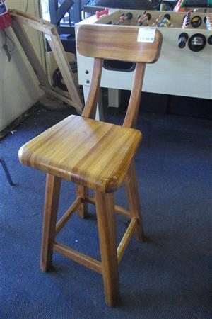 6 Wooden Bar Chairs