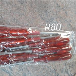 Orange flat screwdriver set