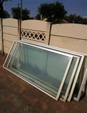 2x 2ND HAND GLASS SLIDING DOORS - Size 1800 (width) x 2100 (height)