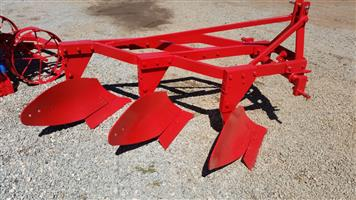 Red EHJ 3 Furrow Frame Plough / Skaar Raam Ploeg New Implement