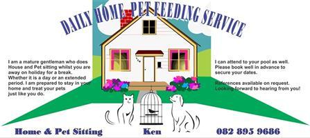 Daily home pet feeding service