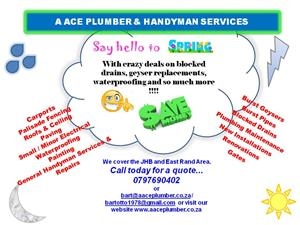 A ACE PLUMBER AND HANDYMAN SERVICES