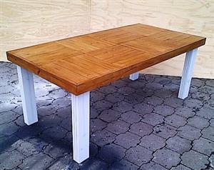 Patio table Farmhouse series 1850 Two Tone