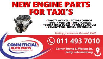 NEW TAXI ENGINE PARTS FOR SALE