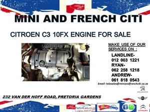 Citroen C2 10fx engine for sale !